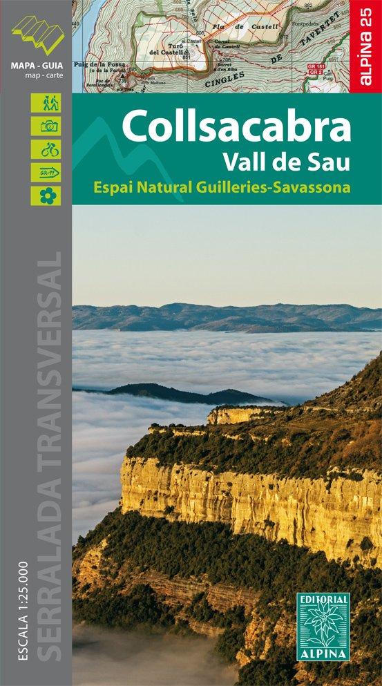 Collsacabra, Vall de Sau 1:25.000 9788480906067  Editorial Alpina Wandelkaarten Spanje  Wandelkaarten Catalonië, Barcelona