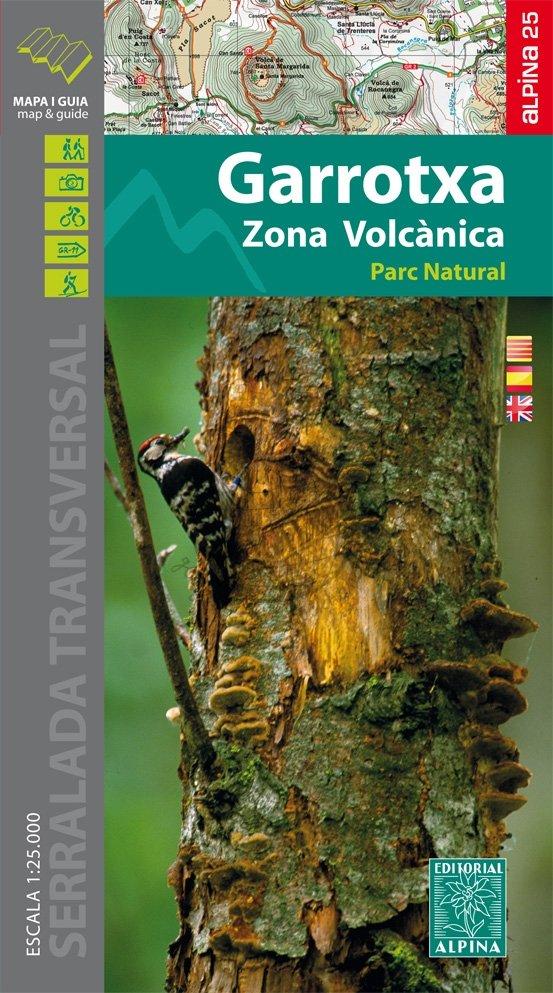 Garrotxa, Zona Volcanica 1:25.000 9788480906111  Editorial Alpina Wandelkaarten Spaanse Pyreneeë  Wandelkaarten Spaanse Pyreneeën