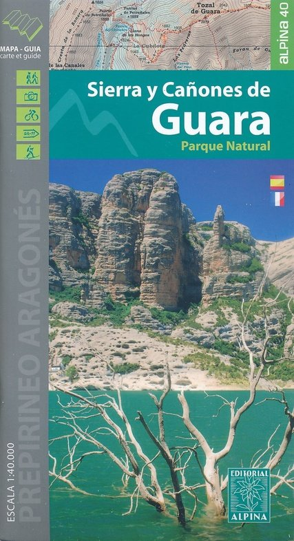 Sierra y Cañones de Guara 9788480906609  Editorial Alpina Wandelkaarten Spanje  Wandelkaarten Catalonië, Barcelona