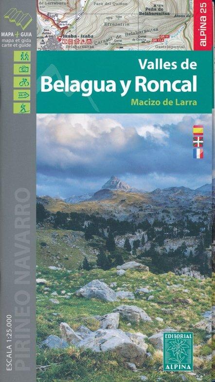 Valles de Belagua y Roncal - Macizo de Larra 1:25.000 9788480906678  Editorial Alpina Wandelkaarten Spaanse Pyreneeë  Wandelkaarten Spaanse Pyreneeën