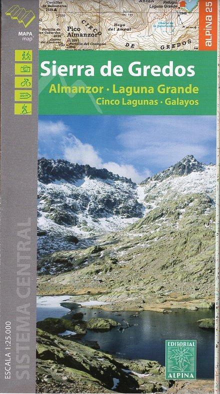 Sierra de Gredos 1:40.000 9788480907316  Editorial Alpina Wandelkaarten Spanje  Wandelkaarten Castilië