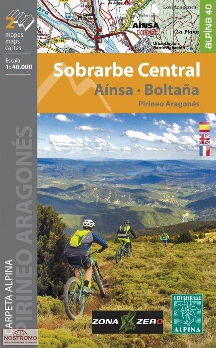 Sobrarbe Central, Aínsa, Boltaña 1:40.000 9788480907521  Editorial Alpina Wandelkaarten Spaanse Pyreneeë  Fietsgidsen, Wandelkaarten Spaanse Pyreneeën