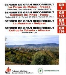 GR-7, GR171, GR172, GR174 9788492059454  FEEC   Meerdaagse wandelroutes, Wandelgidsen Catalonië, Barcelona