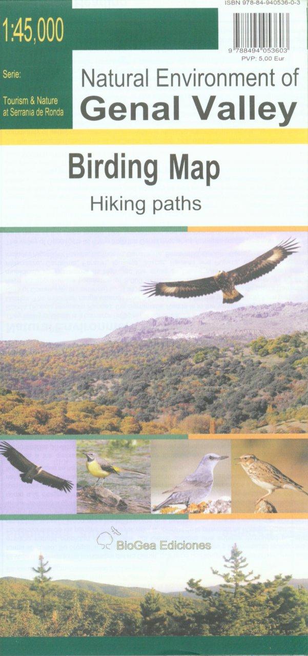 Genal Valley, Birding Map 1:45.000 9788494053603  BioGea Ediciones Wandelkaarten Spanje  Wandelkaarten Andalusië
