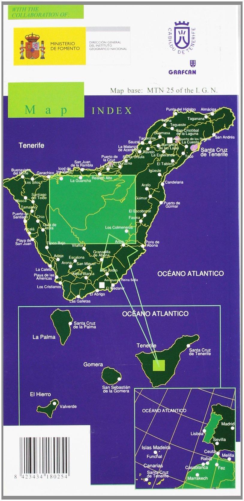 El Teide 1:25.000 9788496340602  CNIG   Wandelkaarten Tenerife