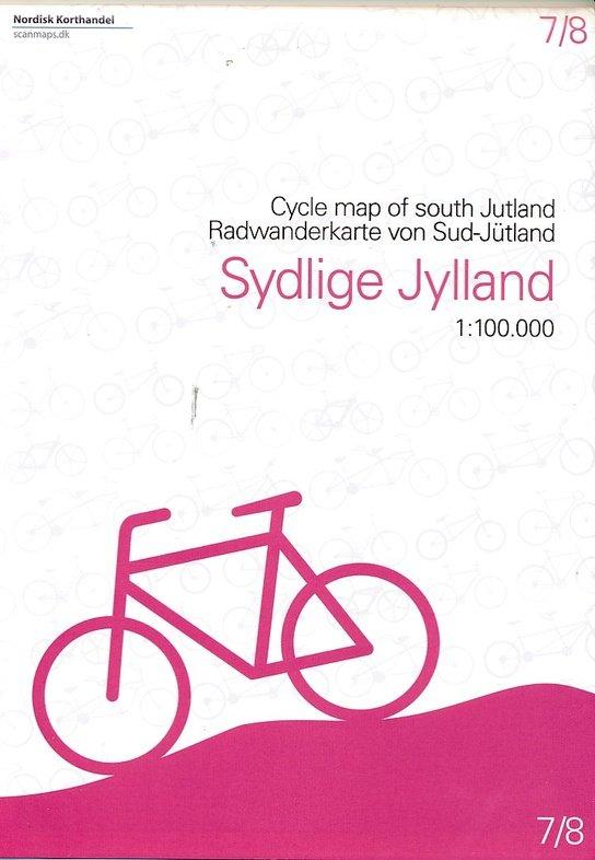 SM-7  Zuid-Jutland fietskaart 1:100.000 9788779671065  Scanmaps fietskaarten Denemarken  Fietskaarten Denemarken