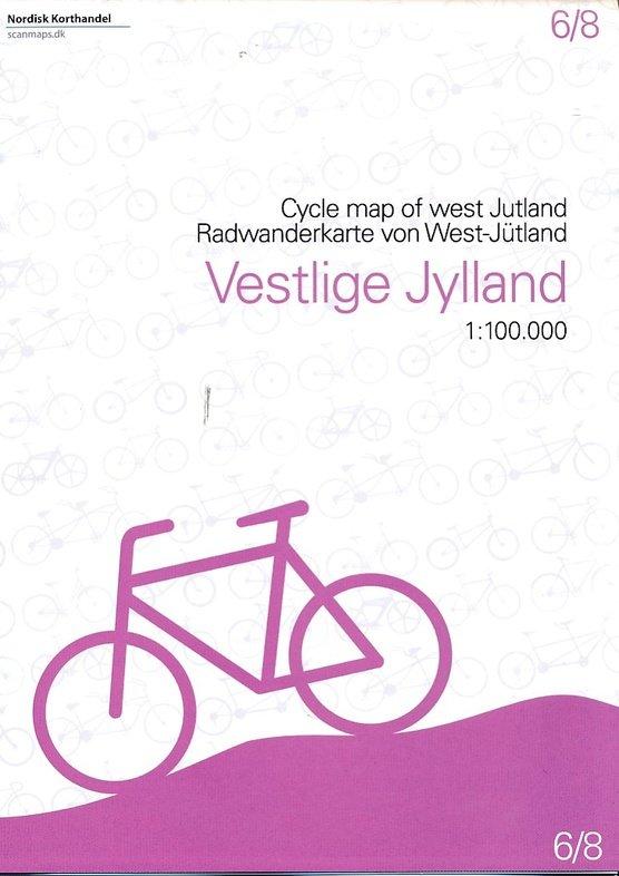 SM-6  West Jutland fietskaart 1:100.000 9788779671072  Scanmaps fietskaarten Denemarken  Fietskaarten Denemarken