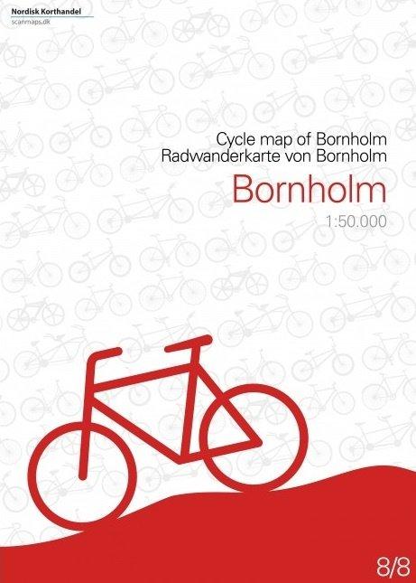 SM-8  Bornholm fietskaart 1:50.000 9788779671102  Scanmaps fietskaarten Denemarken  Fietskaarten Denemarken