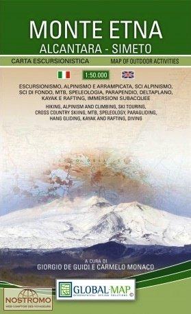 Monte Etna (wandelkaart Etna) 1:50.000 9788833030012  Global Map   Wandelkaarten Sicilië