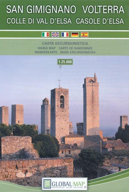 Volterra/ San Gimignano 1:25.000 9788833032665  Global Map Ecotrek  Wandelkaarten Toscane, Florence