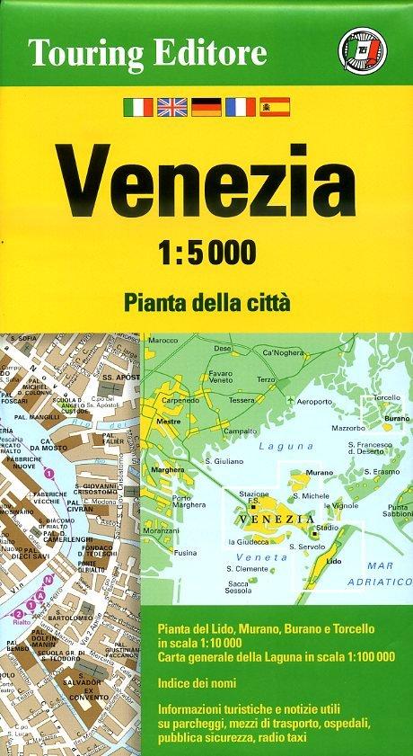 Venetië 1:5.000 9788836563777  TCI Touring Club of Italy   Stadsplattegronden Zuidtirol, Dolomieten, Friuli, Venetië, Emilia-Romagna