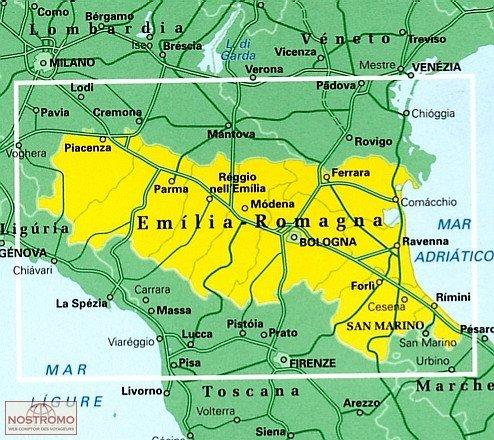 TCI-06  Emilia-Romagna 1:200.000 9788836569021  TCI Italië Wegenkaarten  Landkaarten en wegenkaarten Zuidtirol, Dolomieten, Friuli, Venetië, Emilia-Romagna