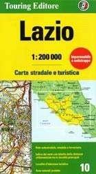 TCI-10  Lazio / Roma 1:200.000 9788836569038  TCI Italië Wegenkaarten  Landkaarten en wegenkaarten Rome, Abruzzen