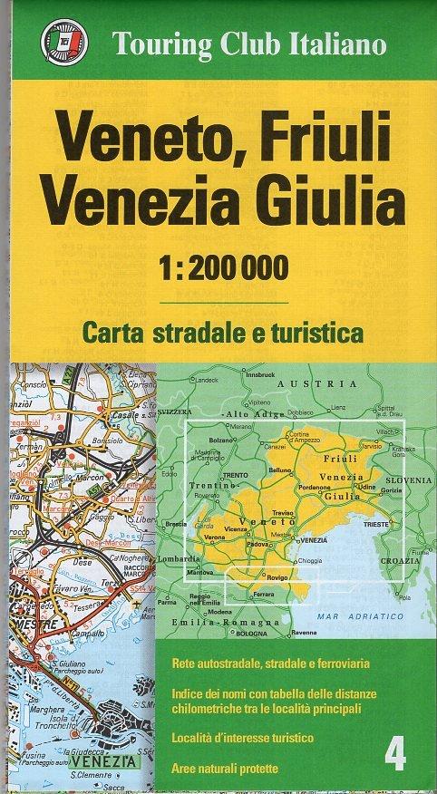 TCI-04  Veneto, Friuli 1:200.000 9788836569069  TCI Italië Wegenkaarten  Landkaarten en wegenkaarten Zuidtirol, Dolomieten, Friuli, Venetië, Emilia-Romagna