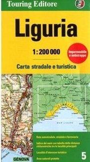 TCI-05  Liguria (Ligurië) / Riviera   1:200.000 9788836570904  TCI Italië Wegenkaarten  Landkaarten en wegenkaarten Ligurië, Piemonte, Lombardije