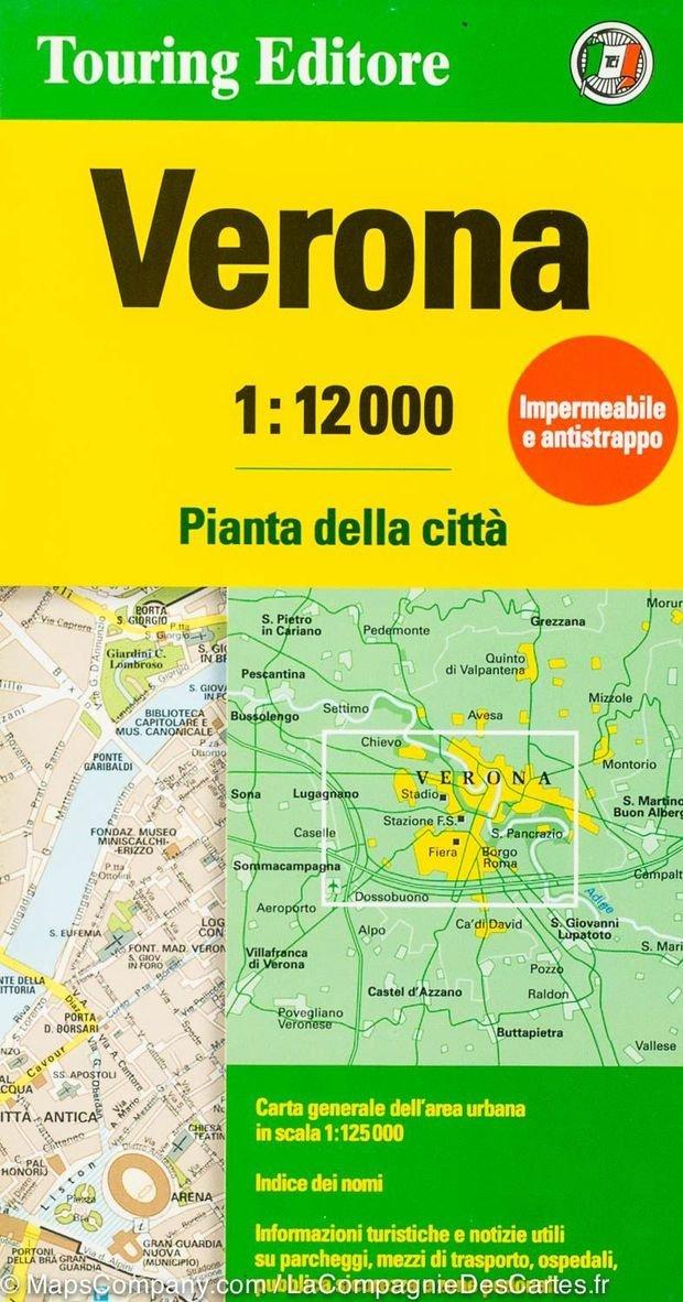 Verona 1:12.000 9788836573394  TCI Touring Club of Italy   Stadsplattegronden Zuidtirol, Dolomieten, Friuli, Venetië, Emilia-Romagna