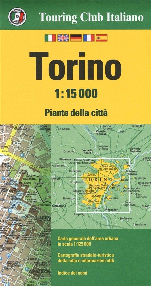 Torino 1:15.000 9788836573400  TCI Touring Club of Italy   Stadsplattegronden Ligurië, Piemonte, Lombardije