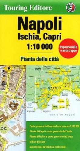 Napels 1:10.000 Napoli 9788836573424  TCI   Stadsplattegronden Napels en Zuid-Italië
