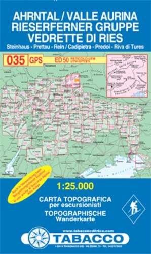 TAB-35  Ahrntal, Rieserfernergruppe | Tabacco wandelkaart 9788883150357  Tabacco Tabacco 1:25.000  Wandelkaarten Zuid-Tirol, Dolomieten