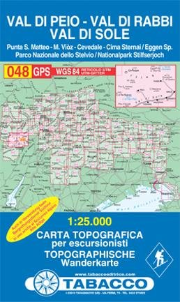 TAB-48 Val di Peio, Val di Rabbi, Val di Sole | Tabacco wandelkaart 9788883150692  Tabacco Tabacco 1:25.000  Wandelkaarten Zuidtirol, Dolomieten, Friuli, Venetië, Emilia-Romagna