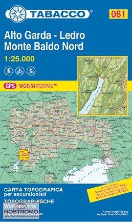 TAB-61 Alto Garda, Ledro, Monte Baldo Nord | Tabacco wandelkaart 9788883151057  Tabacco Tabacco 1:25.000  Wandelkaarten Zuidtirol, Dolomieten, Friuli, Venetië, Emilia-Romagna