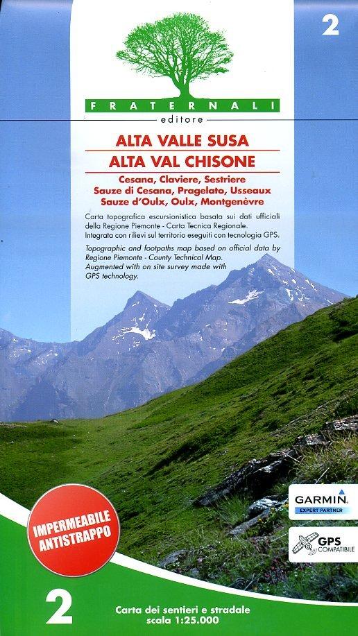 FRA-02 Alta Valle Susa Alta Val Chisone   wandelkaart 1:25.000 9788890278419  Fraternali Editore   Wandelkaarten Turijn, Piemonte