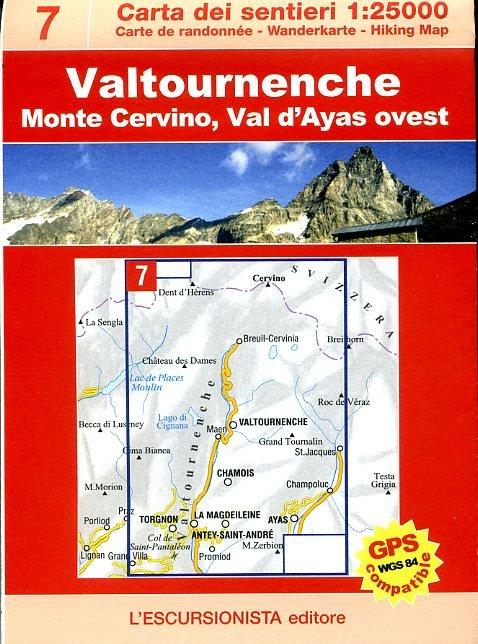 ESC-07  Valtournenche | wandelkaart 1:25.000 9788890391828  Escursionista   Wandelkaarten Ligurië, Piemonte, Lombardije