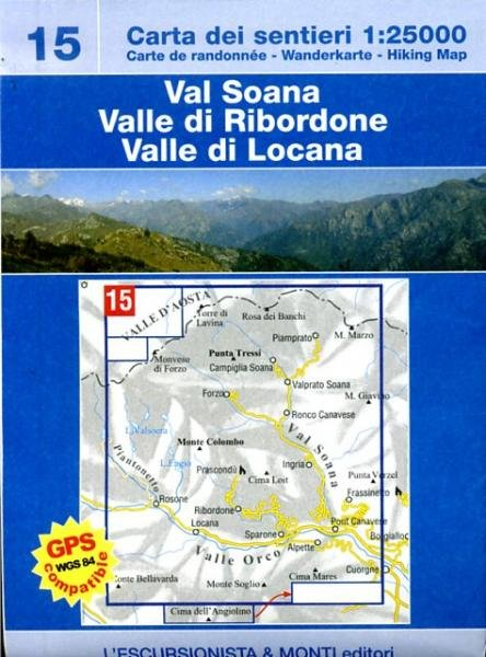 ESC-15  Val Soana | wandelkaart 1:25.000 9788890391866  Escursionista   Wandelkaarten Ligurië, Piemonte, Lombardije