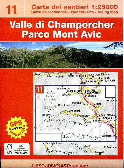 ESC-11  Mont Avic, Valle di Champorcher | wandelkaart 1:25.000 9788890578410  Escursionista   Wandelkaarten Ligurië, Piemonte, Lombardije