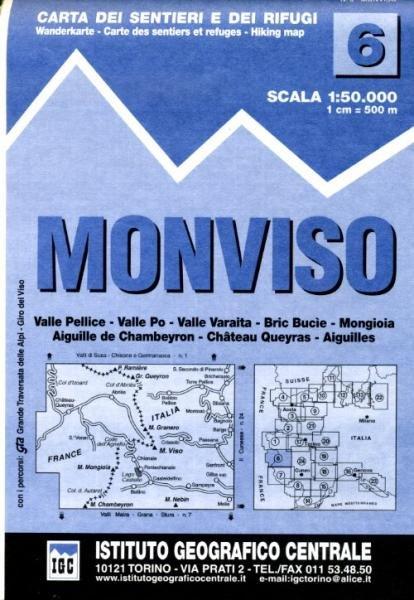 IGC-06: Monviso (Monte Viso) 9788896455067  IGC IGC: 1:50.000  Wandelkaarten Ligurië, Piemonte, Lombardije