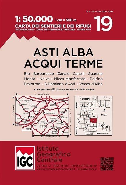 IGC-19: Asti - Alba - Acqui Terme 9788896455661  IGC IGC: 1:50.000  Wandelkaarten Ligurië, Piemonte, Lombardije