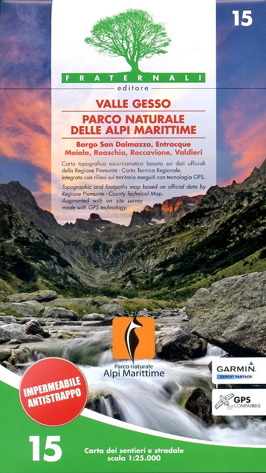 FRA-15  Valle Gesso   wandelkaart 1:25.000 9788897465119  Fraternali Editore   Wandelkaarten Turijn, Piemonte
