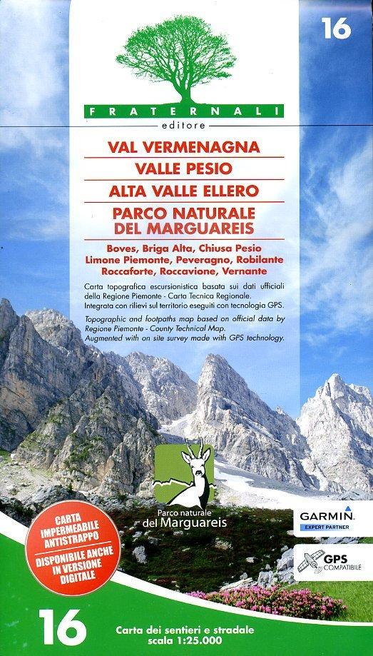 FRA-16  Vermenagna - Valle Pesio - Alta Valle Ellero 1:25.000 9788897465140  Fraternali Editore   Wandelkaarten Ligurië, Piemonte, Lombardije