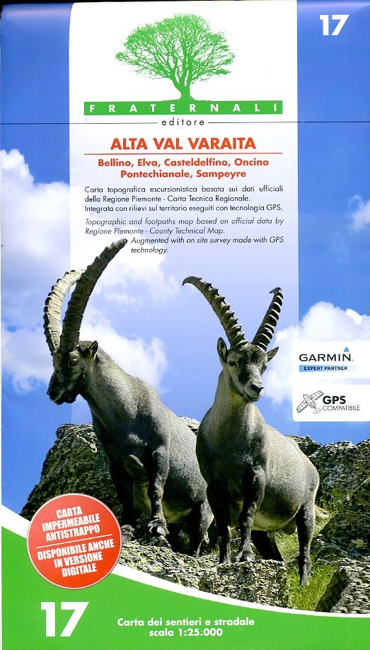 FRA-17  Alta Val Varaita 1:25.000 9788897465157  Fraternali Editore   Wandelkaarten Ligurië, Piemonte, Lombardije