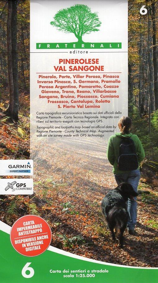 FRA-06  Pinerolese e Val Sangone   wandelkaart 1:25.000 9788897465218  Fraternali Editore   Wandelkaarten Turijn, Piemonte