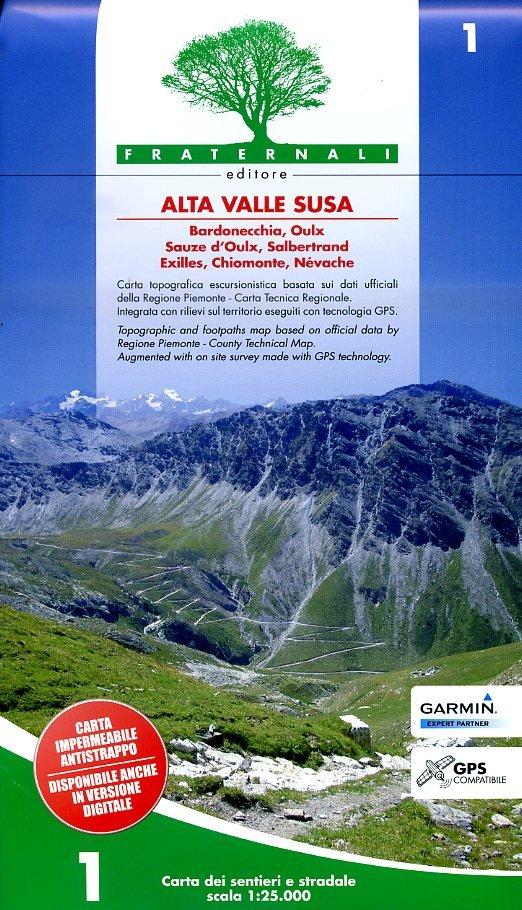FRA-01 Alta Valle Susa   wandelkaart 1:25.000 9788897465225  Fraternali Editore   Wandelkaarten Turijn, Piemonte