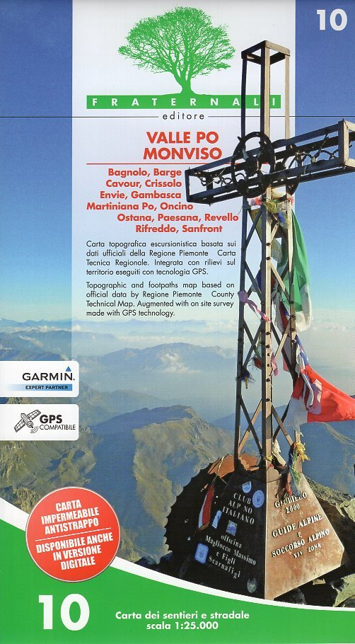 FRA-10  Valle Po, Monviso 1:25.000 9788897465249  Fraternali Editore   Wandelkaarten Ligurië, Piemonte, Lombardije