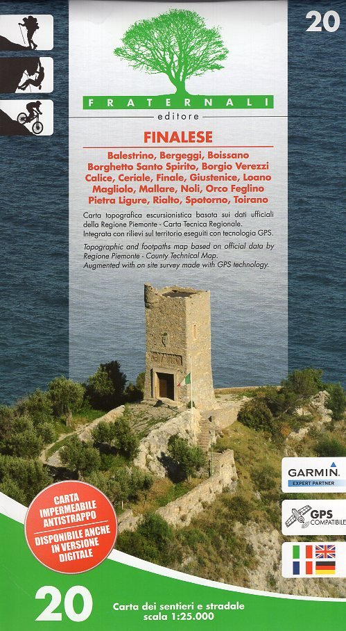 FRA-20  Finalese 1:25.000 9788897465263  Fraternali Editore   Wandelkaarten Ligurië, Piemonte, Lombardije
