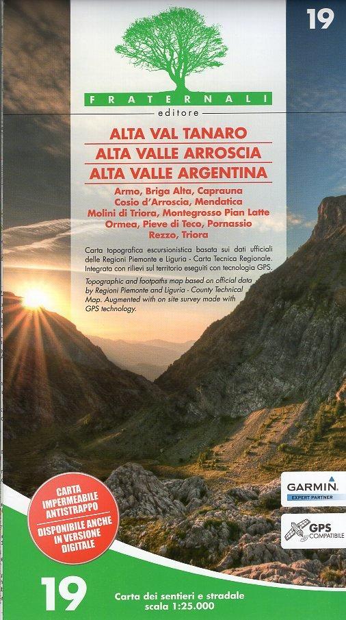 FRA-19  Alta Val Tanaro 1:25.000 9788897465270  Fraternali Editore   Wandelkaarten Ligurië, Piemonte, Lombardije