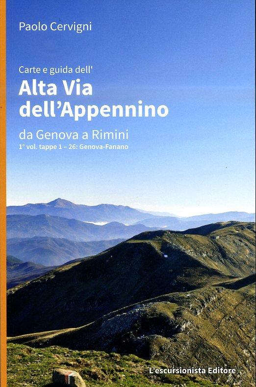 Alta Via dell'Appennino da Genova a Rimini, Vol.1 9788898520008  Escursionista   Meerdaagse wandelroutes, Wandelgidsen Italië