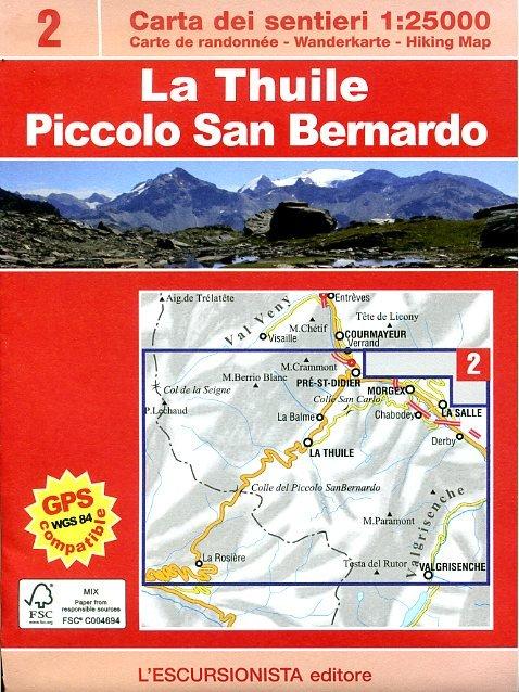 ESC-02  La Thuile, Piccolo San Bernardino | wandelkaart 1:25.000 9788898520114  Escursionista   Wandelkaarten Ligurië, Piemonte, Lombardije