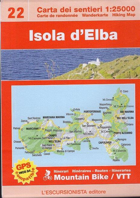 ESC-22  Isola d'Elba | wandelkaart 1:25.000 9788898520435  Escursionista   Wandelkaarten Toscane, Umbrië, de Marken