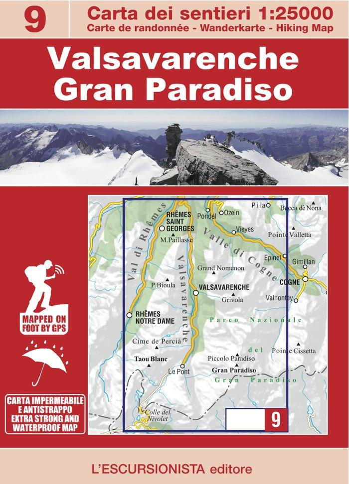 ESC-09  Valsavarenche, Gran Paradiso | wandelkaart 1:25.000 9788898520695  Escursionista   Wandelkaarten Ligurië, Piemonte, Lombardije