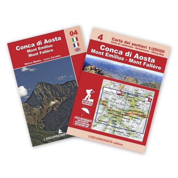 ESC-04  Conca di Aosta, Mont Emilius | wandelkaart 1:25.000 9788898520718  Escursionista   Wandelkaarten Ligurië, Piemonte, Lombardije