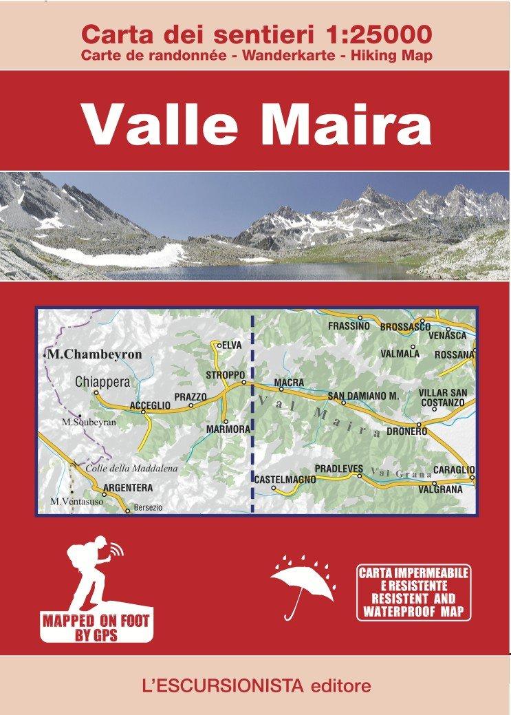 Valle Maira | wandelkaart 1:25.000 9788898520787  Escursionista   Wandelkaarten Turijn, Piemonte