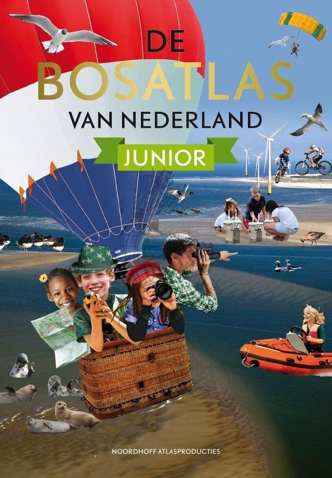 De Bosatlas van Nederland Junior 9789001120139  Noordhoff   Kinderboeken, Landeninformatie Nederland