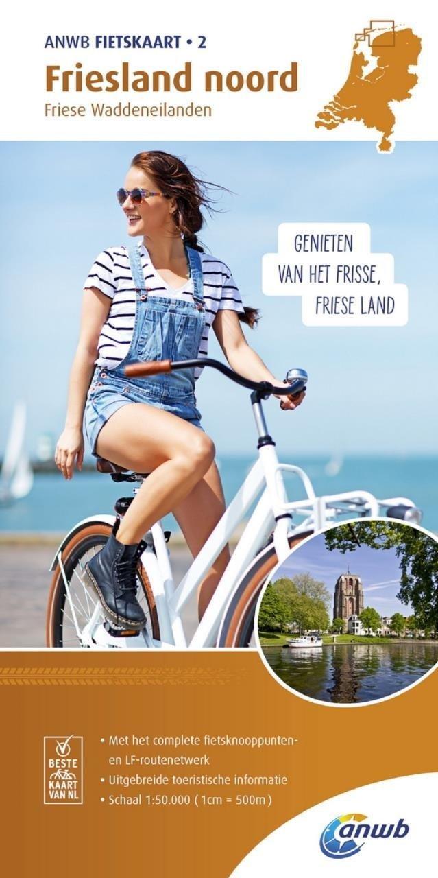 AFO-02  Friesland Noord - ANWB fietskaart 1:50.000 9789018041731  ANWB ANWB fietskaarten 50.000  Fietskaarten Friesland