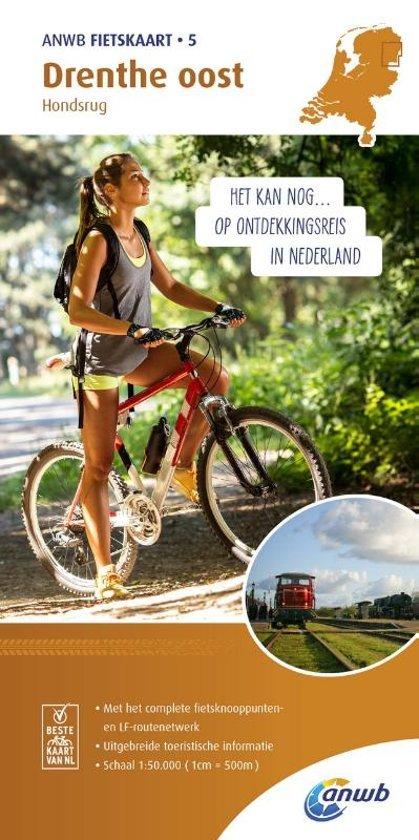 AF-05  Drenthe Oost - ANWB fietskaart 1:50.000 9789018041762  ANWB ANWB fietskaarten 50.000  Fietskaarten Drenthe