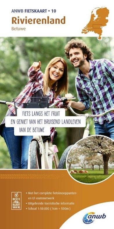 AF-10  Gelderse Rivieren - ANWB fietskaart 1:50.000 9789018041816  ANWB ANWB fietskaarten 50.000  Fietskaarten Nijmegen en het Rivierengebied