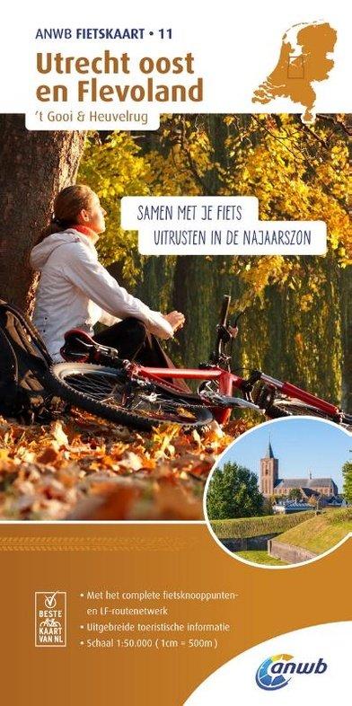 AF-11  Utrecht Oost - ANWB fietskaart 1:50.000 9789018041823  ANWB ANWB fietskaarten 50.000  Fietskaarten Utrecht